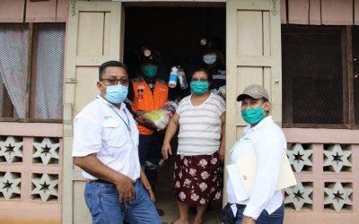 Familias vulnerables reciben apoyo de HEMCO y sus colaboradores