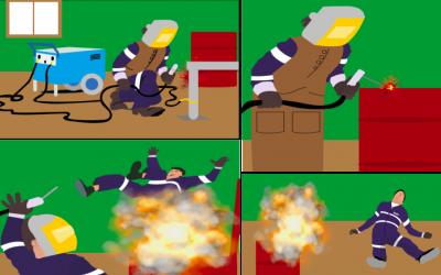 Incendio y explosión